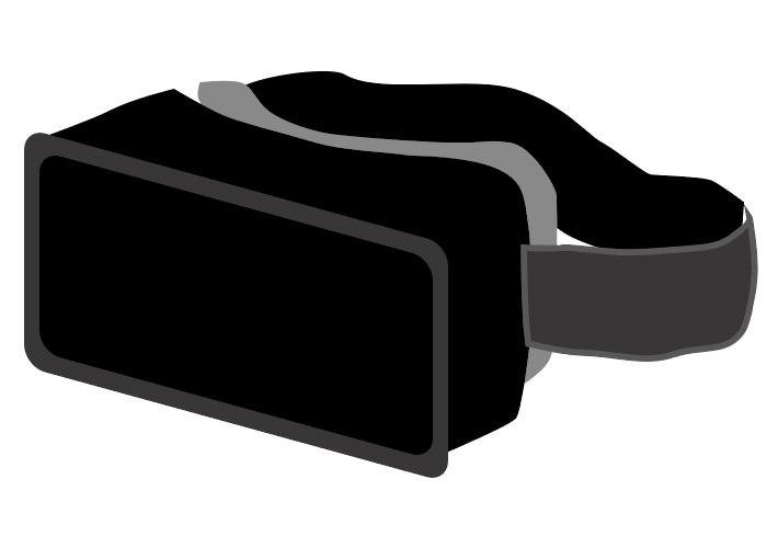 VR goggles attach