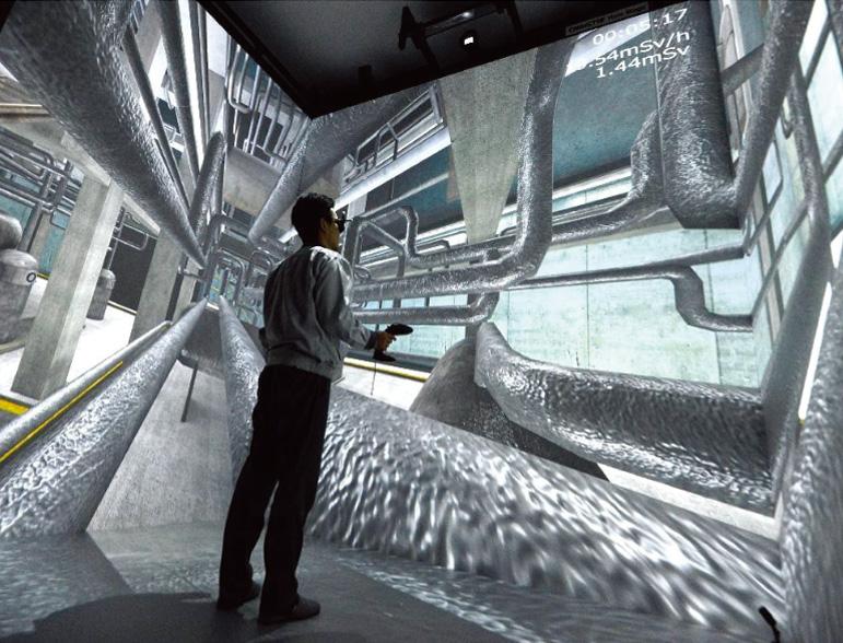 Decommissioning work simulator